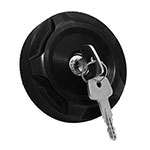 WH Billet Locking Fuel Cap Cover Black Anodized (each) For WH locking fuel caps  2 5/8