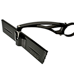 "9"" Wide Panoramic Rearview Mirror & Clamp with 6"" Arm BLACK"