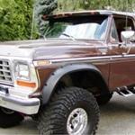 Bushwacker Front Cutout Fender Flares 78-79 Ford Bronco