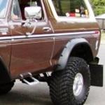 Bushwacker Rear Cutout Fender Flares 78-79 Ford Bronco