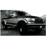 Bushwacker Rear Cutout Fender Flares 87-91 Ford Bronco