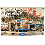 Laid Back Dream Garage Ford Banner 22 x 34