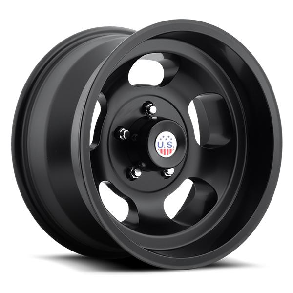 US Mags Indy 15x7 Wheel Vintage 1-Piece Cast Matte Black