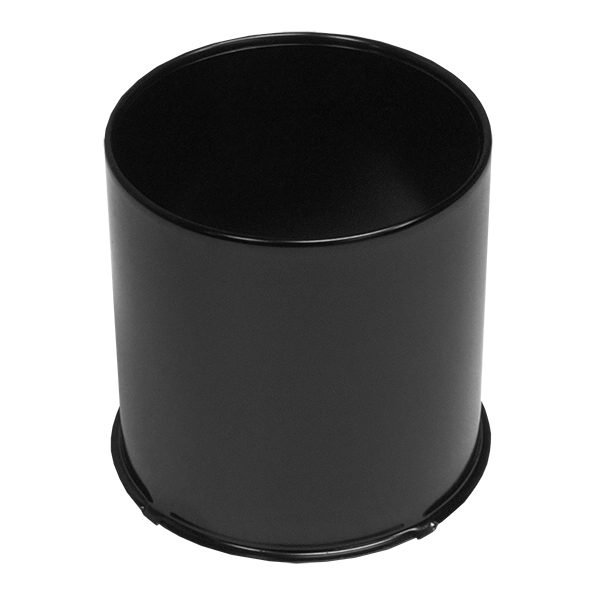 4.25 BLACK Open Center Cap For Front Wheels