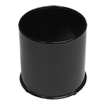 4.25 BLACK Open Center Cap For Front Wheels