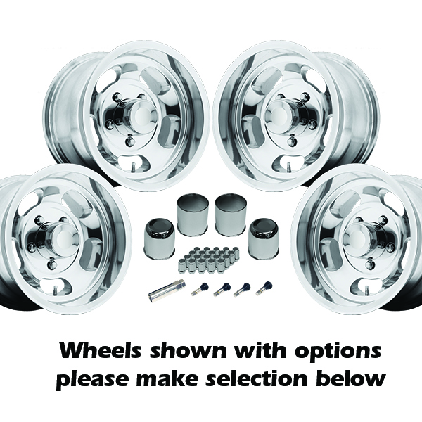 US Mags Indy 15x8 1-Piece Cast Polished Kit