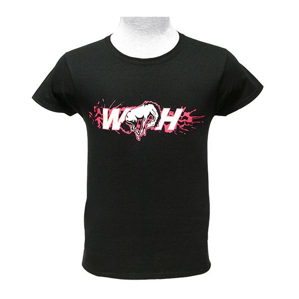 WH Ladies T-Shirt Hot Pink Logos
