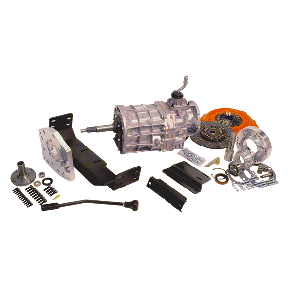 AX15 Deluxe Kit with Brand New Transmission For 66-72 Bronco T-Shift Dana 20