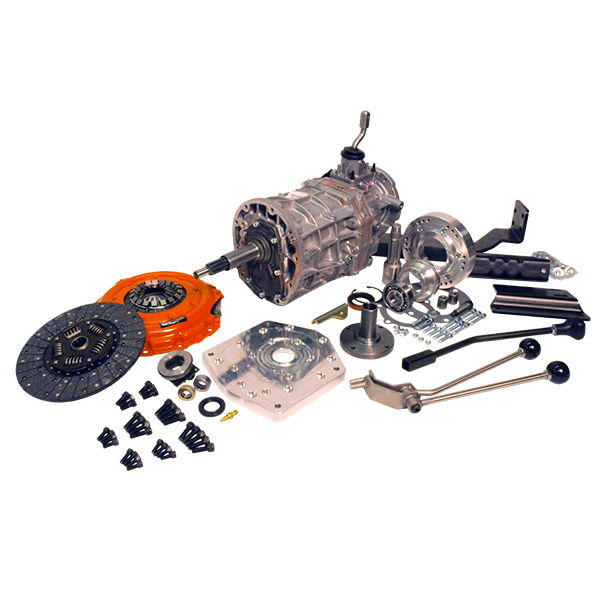 AX15 Deluxe Kit with Brand New Transmission and Twin Stick For 73-77 Bronco J-Shift Dana 20