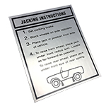 1967-1977 Jack Instructions Decal