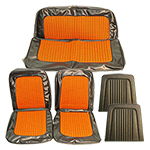 Houndstooth Seat Upholstery Cover Set Orange And Black