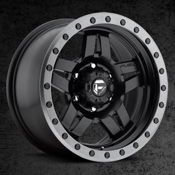 Fuel Anza Wheel 17x8.5 D557 Matte Black w/Anthracite Ring