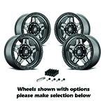Fuel Anza Wheels Set of 4 17x8.5 Matte Anthracite Kit
