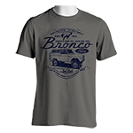 Laid Back Bronco Front Print Shirt in Grey