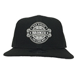 WH Black Flat Bill Hat New Era Snap Back