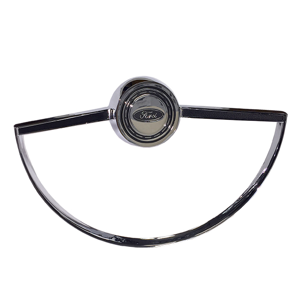 Steering Wheel Horn Button with Ring Chrome 66-73
