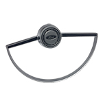 Steering Wheel Horn Button with Ring Satin 66-73