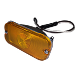 66-68 Front Turn Signal Assembly With Amber Lens