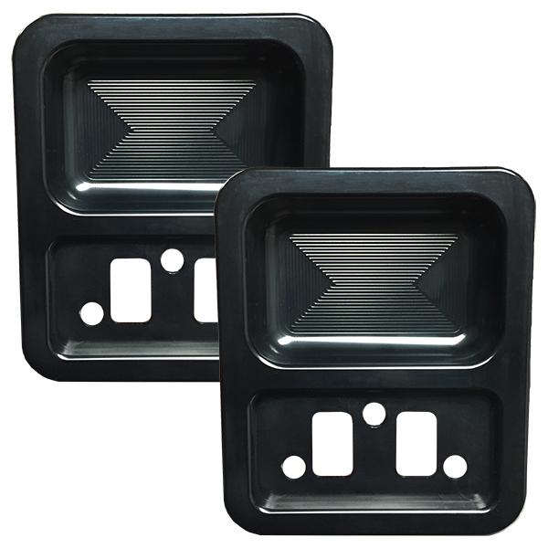 68-77 Billet Door Cups (pair) Black