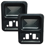 68-77 Billet Door Cups (pair) Black