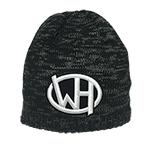 WH WH Logo Beanie Black/Charcoal