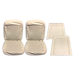 Front Seat Upholstery Cover Set Parchment