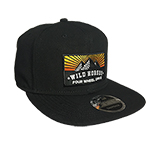 WH Sunrise Mountain Black Flat Bill Hat