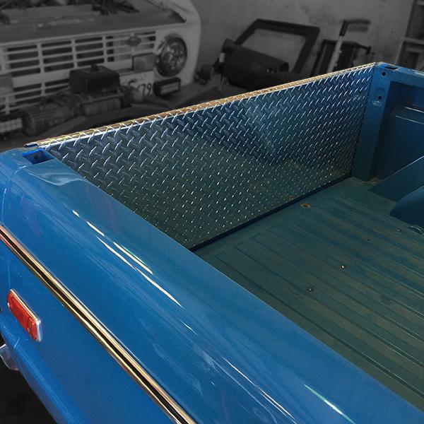 Diamond Plate Tailgate Panel 66-77 Bronco