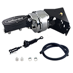 Power Brake Kit with Chrome Booster and WILWOOD Tandem Master Cylinder BLACK
