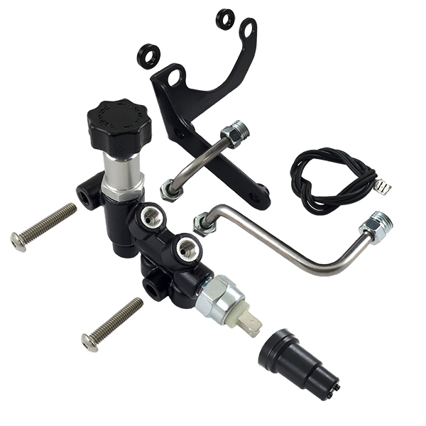 MOAB Prop Valve with Bracket & Line Kit Right Side Drop use with Wilwood Master Cylinder