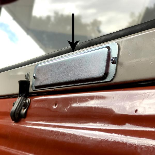 Liftgate Lock Access Cover 1967-77 Bronco