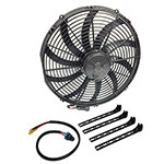 "SPAL 16"" Extreme Performance Fan Kit Includes Fan, Mounts and Wire Lead"