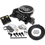 Holley Sniper EFI 2300 TBI Master Kit Two Barrel, Black Ceramic Finish