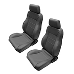 WH Seats Full Reclining PAIR GREY Vinyl with Sliders