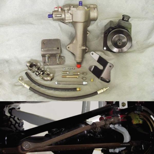 Deluxe Power Steering Kit w/ H.D. Pump Includes Adjustable Draglink