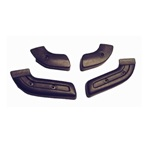 Seat Hinge Covers 67-77 Black