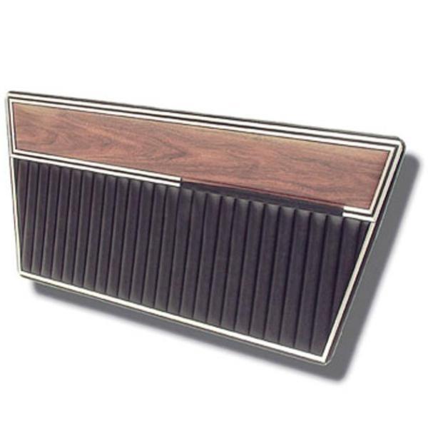 Deluxe Door Panels 68-77 Black with Woodgrain