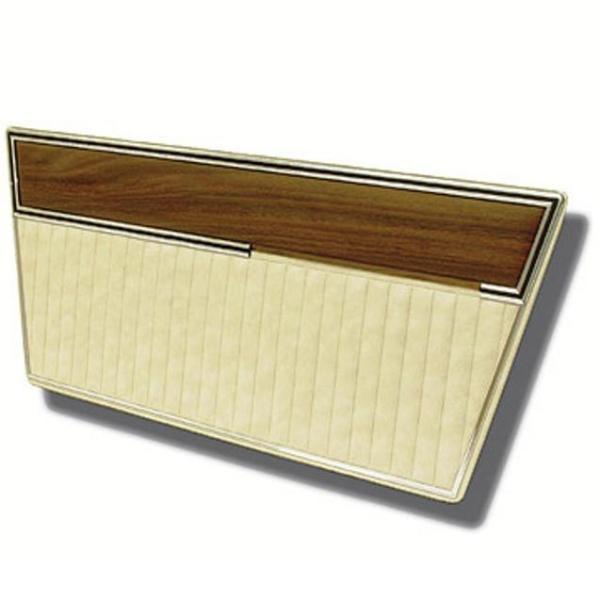 Deluxe Door Panels 68-77 Parchment with Woodgrain Top
