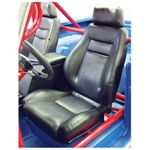 Procar Elite Seats PAIR Black Vinyl with Sliders