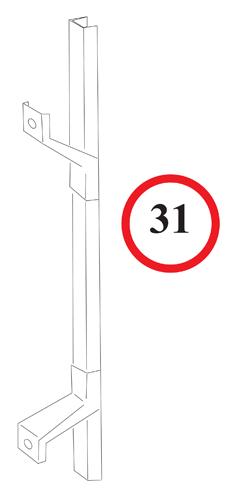 Rear Window Track - Left Door