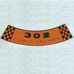 302 Sticker Decal