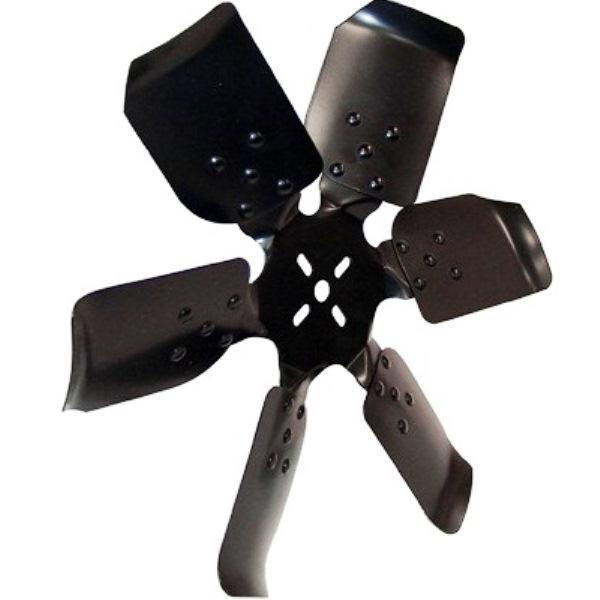 Ridged 18 Steel Fan - Reverse Rotation