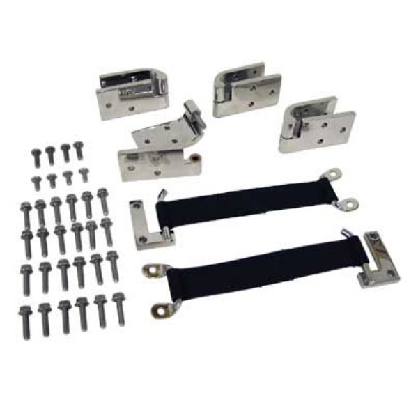 Stainless Steel Quick Remove Door Hinge Kit