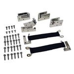 Stainless Quick Remove Door Hinge Kit