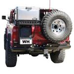 Rear Rock Blocker Bumper w/Tire Rack