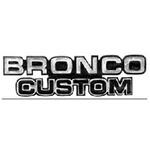 Bronco Custom Emblem 78-79