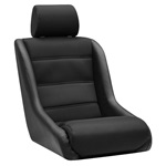 Corbeau Classic II Seats Pair Black Vinyl/Cloth