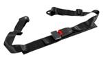 Corbeau 2in Lap Belt Black Bolt-In PAIR