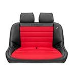 Black Vinyl - Red Cloth w/ Headrests