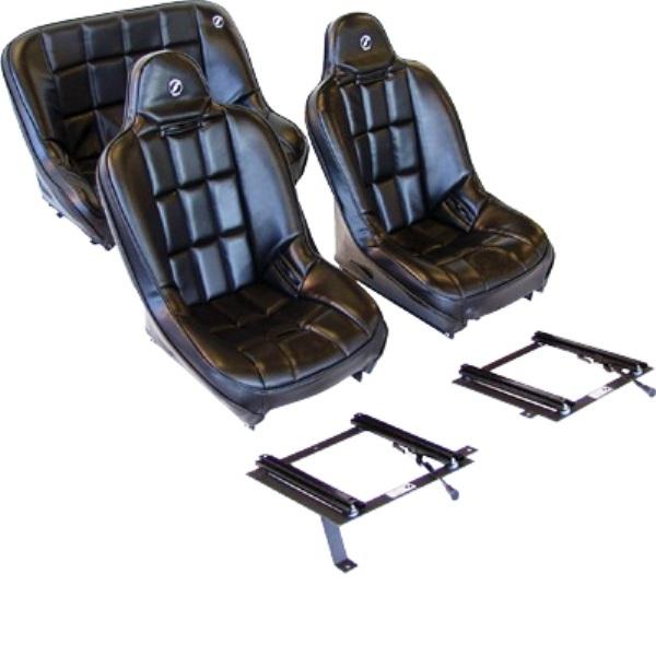 Corbeau Baja SS Seat Package-Fronts/40in Rear & All Brackets